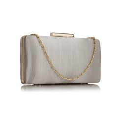 LS bags Silver Satin Clutch/Φάκελος (LSE00314)