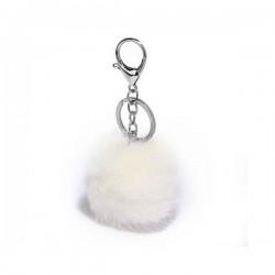 LS Bags White Fluffy POM POM AGC1013