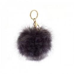 LS Bags Grey Fluffy POM POM AGC1016