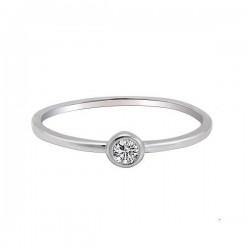 Anna Grace Δαχτυλίδι Silver Crystal Ring 16mm AGR0043