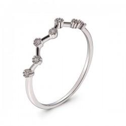 Anna Grace Δαχτυλίδι Silver Sparkle Crystal Ring 16mm AGR0045