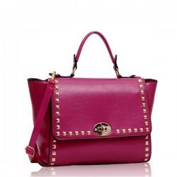 LS Bags Fuchsia Τσάντα Χειρός (LS00204)