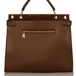 LS Bags Brown/Kαφέ Τσάντα Χειρός/Ώμου (LS0056)