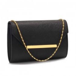 LS Bags Black Clutch/Φάκελος (LSE00293)